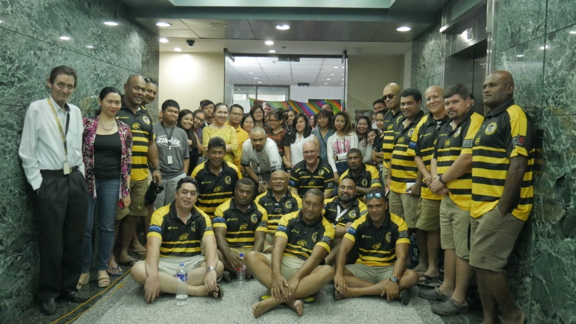Flat Planet Fiji Golden Oldies Rugby Union team sponsored by Flat Planet and current Manila 10s Veterans Division Champions